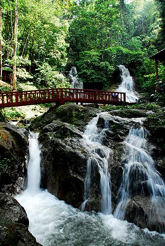 Kanching waterfalls recreational forest selangor