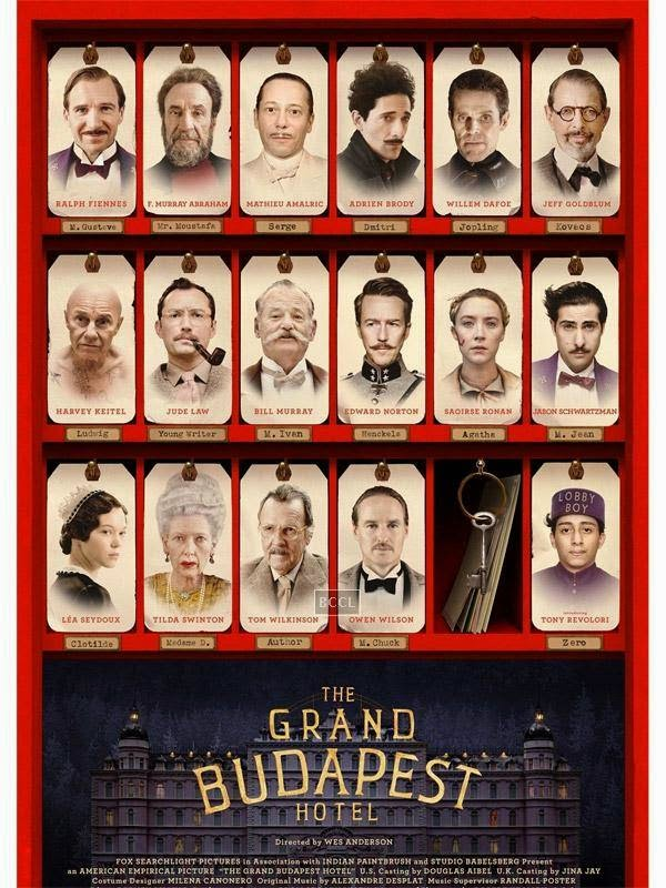 Poster of Hollywood comedy film The Grand Budapest Hotel.