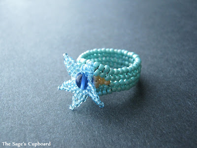 Aqua Starfish Ring