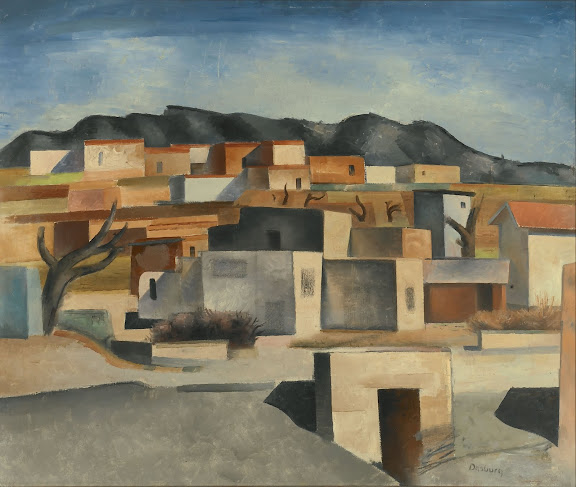 "Andrew Dasburg (American, born France, 1887-1979), ""Pueblo Village,"" c.1926-1928, oil on canvas"