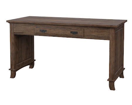 Glasgow Writing Desk in Weathered Maple