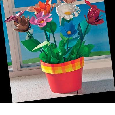 Manualidad Con Caja De Huevo Y Botella Plasticas Flores De Reciclaje