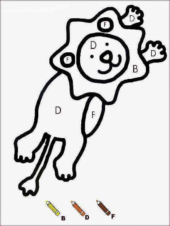 Dessin De Lion A Colorier