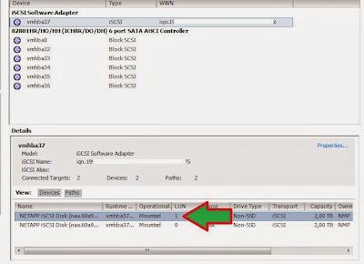 Añadir iniciador de SAN NetApp a adaptador iSCSI de servidor VMware ESXi