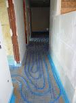 Fußbodenheizung im Flur EG