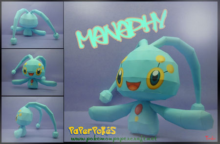 Pokemon Manaphy papercraft