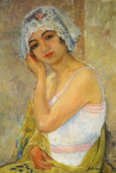 Henri Lebasque - Seated Young Woman -1917