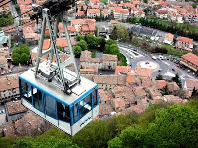 Cable car in San Marino