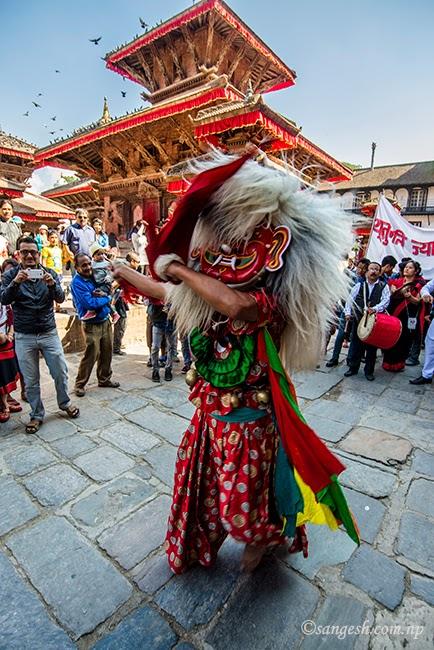 Lakhe Naach - Nepal Sambat celebrations