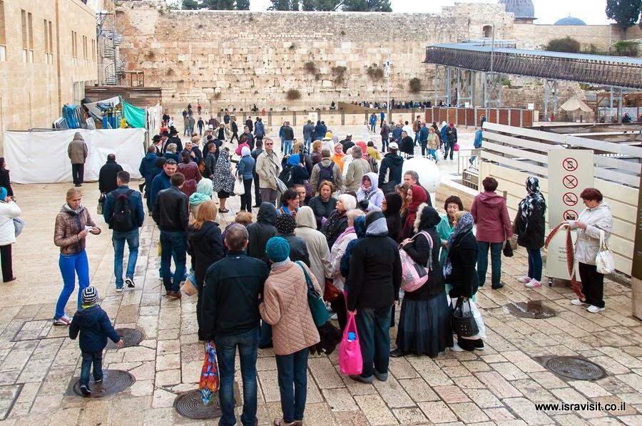 У Стены Плача в Иерусалиме - завершение экскурсии в Стором Городе Иерусалима.
