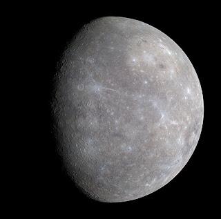 Fotografía de Mercurio, obtenida por la sonda Mariner 10