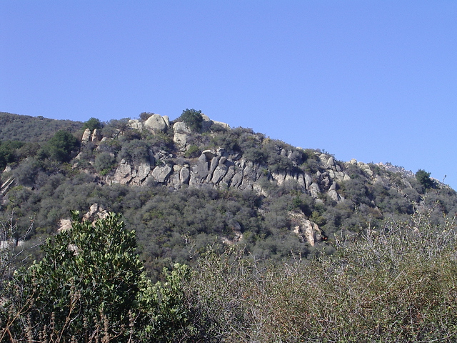 an outcrop of rocks