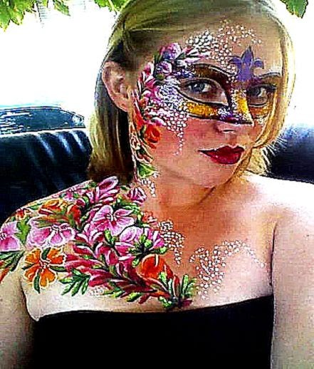 Glamour Body Art Face Painting and Body Painting  melbourne body