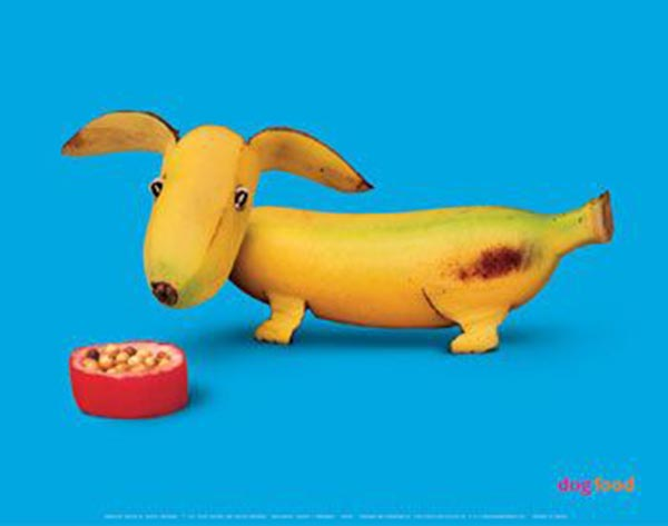 Food Art - Banana Dog