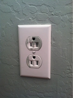 How to Remove Paint from Outlets - The Creative Cubby