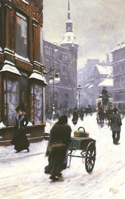 Paul Gustave Fischer - Street Scene In Copenhagen