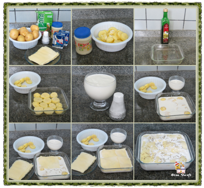 Batatas gratinadas com creme de leite 2