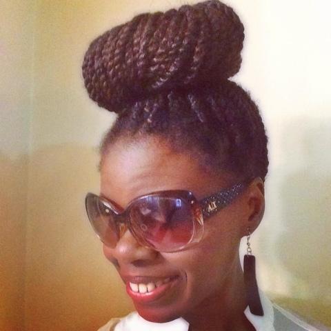 Sunday Hair High Bun With Marley Hair Coilybella