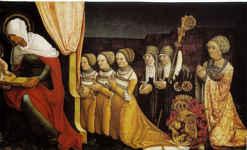Hans Baldung - Ottilie von Katzenelnbogen mit Töchtern