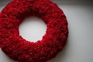 Faux Carnation Wreath