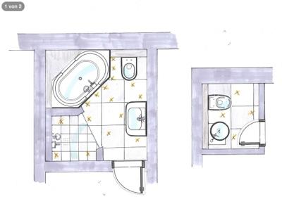 Gemauerte dusche grundriss  Casa de Pollinger: Die Badezimmer - Pläne