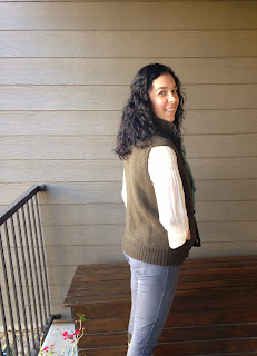 Ulterior Alterations Wool Sweater to Vest Refashion on Her