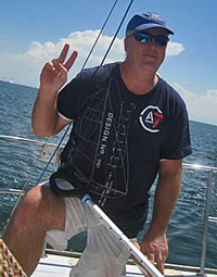 J/30 sailor David Erwin- sailing his beloved J/30 sailboat