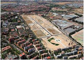 Avanzan las obras de urbanización del antiguo parque central de ingenieros de Villaverde