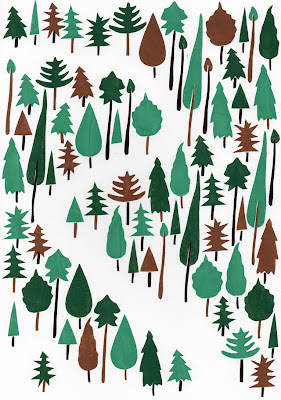 harry seed draws pictures trees print illustration