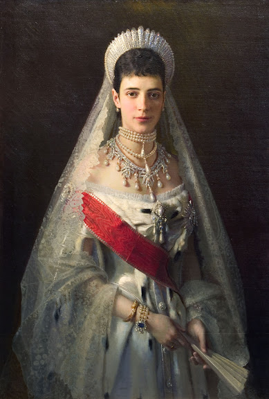 Ivan Kramskoy - Portrait of Maria Fyodorovna, born Princess Dagmar of Denmark , wife of russian tsar Alexander III