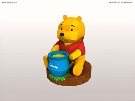 Winnie the Pooh Paper Model