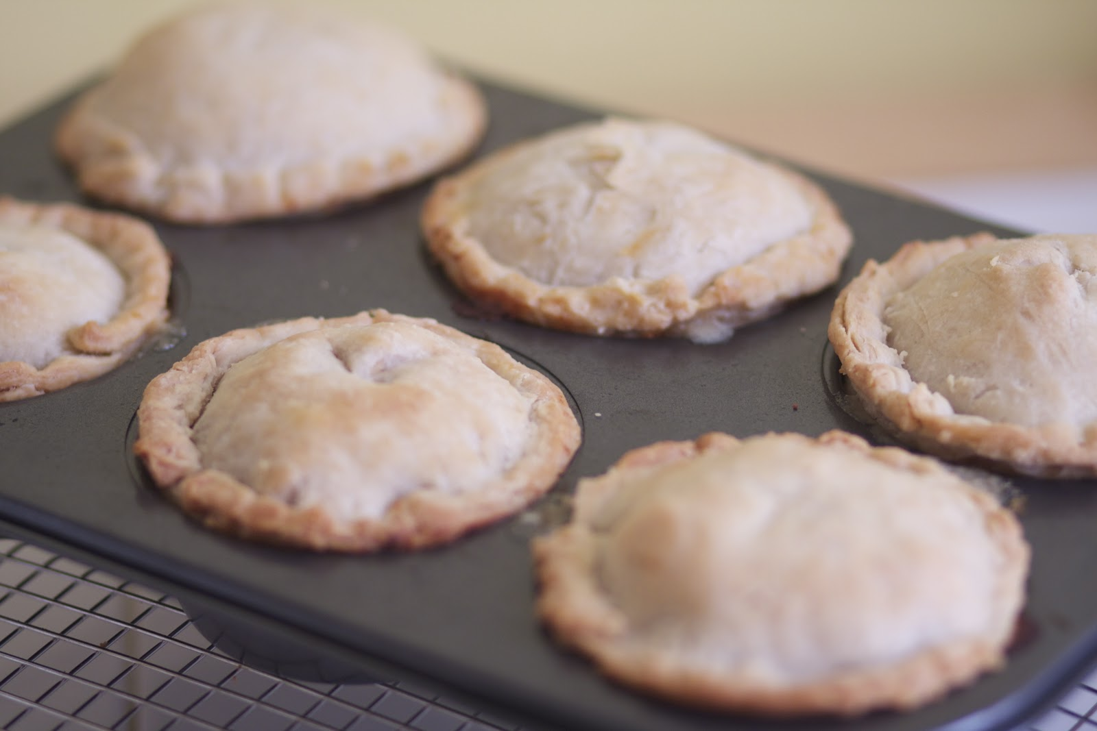 Mini Chicken Pot Pies on Pi Day via The Baker Chick