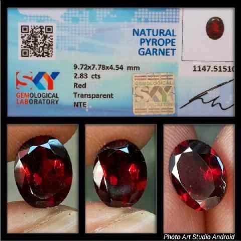 Natural Pyrope Garnet
