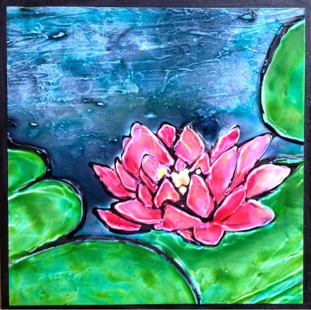 painting pond mini Robin Baratta artist
