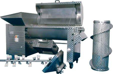 Επαγγελματικός Απορογιτήρας-αποβοστρυχωτήρας-διαχωριστήρας (απορραγιστήριο-αποβοστρυχωτήριο-εκραγιστήριο-θλιπτήριο) Enoitalia τύπου Jolly 150/MV