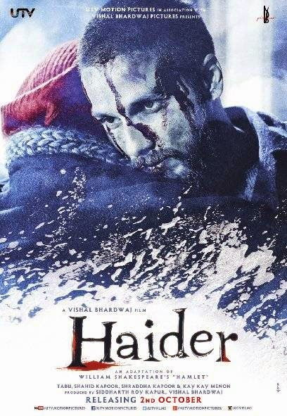 Poster Of Hindi Movie Haider (2014) Free Download Full New Hindi Movie Watch Online At Alldownloads4u.Com
