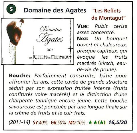 Domaine des Agates - les reflets de Montagut 2007