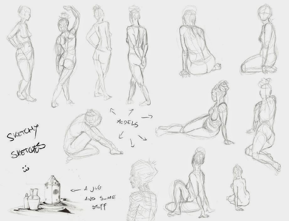 Art Lesson Croquis Female body by CamishCD on DeviantArt
