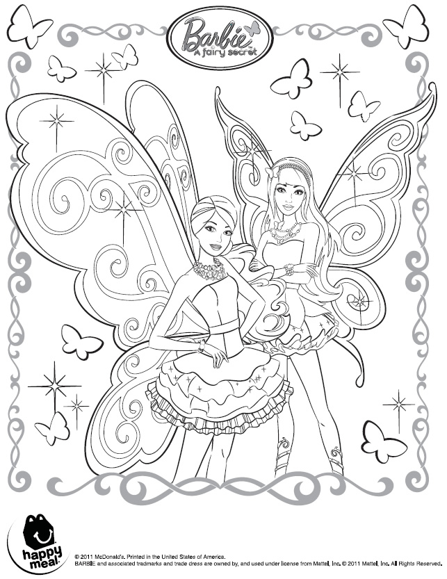 It is an image of Clever Barbie Fairy Coloring Pages