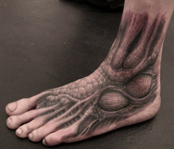 biomechanical tattoo designs