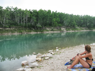 Swimming at the gravel pits
