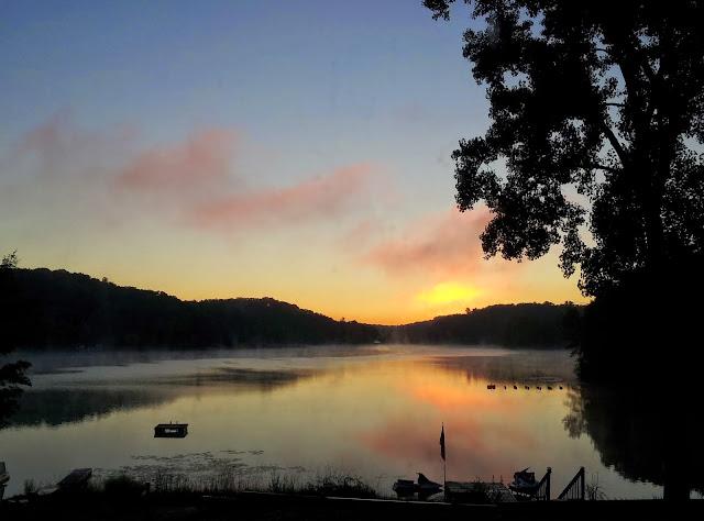 Sunrise over our lake