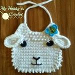 lamb baby bib crochet