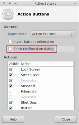 Disable action confirmation