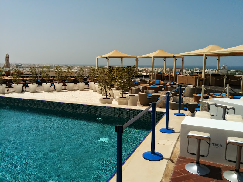 Roof top swimming pool of Park Inn by Radisson Muscat