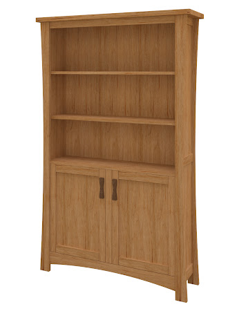 Zen Wooden Door Bookshelf in Calhoun Maple