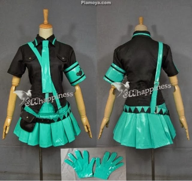Top Simple Cosplay Tutorials: Hatsune Miku Love is War Shirt and Armband SL34
