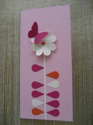 A card created by Emily. The flower i