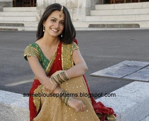 Kriti Kharbanda In Half Saree Saree Blouse Patterns