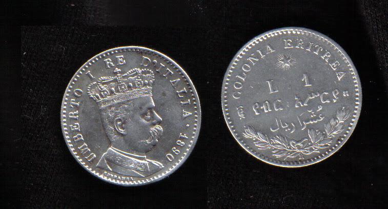 Mi colección de monedas italianas. 1%20LIRA%20ERITREA%201890